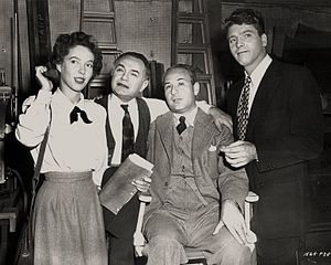 Louisa Horton - All My Sons: Horton, Edward G. Robinson, Chester Erskine (producer) and Burt Lancaster, 1948