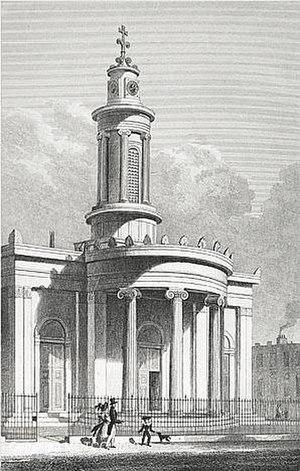 All Saints, Camden Town - All Saints, Camden Town, in 1828.