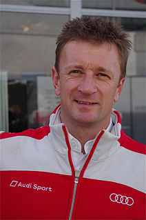 Allan McNish racing driver, 1998, 2008, & 2013 24 Hours of Le Mans winner, commentator for BBC Formula One coverage