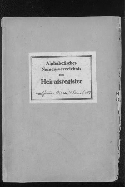 File:Alphabetisches Namensverzeichnis zum Heiratsregister des Standesamtes Minden, 1930.djvu