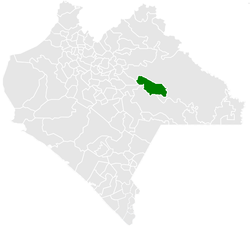 Location of the municipality of Altamirano in Chiapas