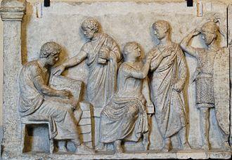 Altar of Domitius Ahenobarbus - Image: Altar Domitius Ahenobarbus Louvre n 1