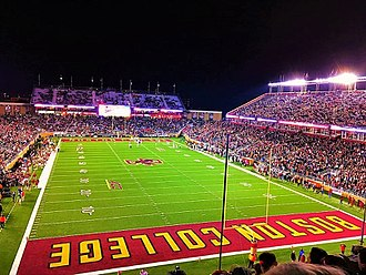 Alumni Stadium, home of the Boston College Eagles. Alumni Stadium Boston College.jpg