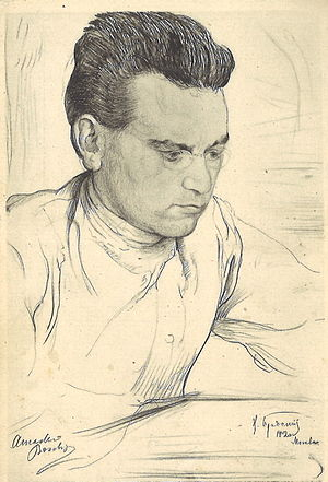 Amadeo Bordiga - Amadeo Bordiga in 1920 (drawing by Isaak Brodsky)