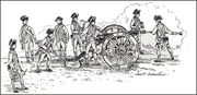 American Artillery Crew in Actionduring the Revolutionary War
