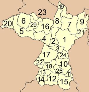 Khon Kaen Province - Map of Amphoe