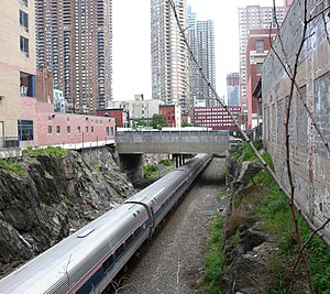 Kaufman Act - The modern West Side Line runs in an open trench west of 10th Avenue