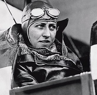Amy Johnson - Johnson in her Black Hawk Moth leaving Australia for Newcastle, 14 June 1930