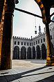 An islamic lantern hanging in Muhammad ibn Qalaun's Mosque at Salah El Din Al Ayouby Citadel.jpg