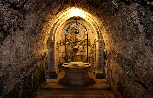 Ancient well at Church of the Visitation