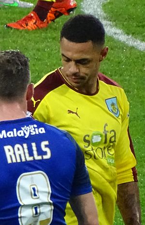 Andre Gray - Gray playing for Burnley in 2015