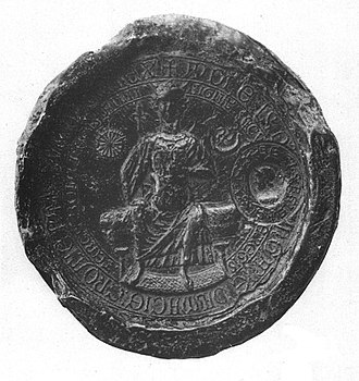 Andrew II of Hungary - Seal of Andrew II, 1224
