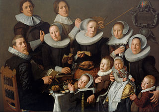 Portrait of the painter Andries van Bochoven and his family