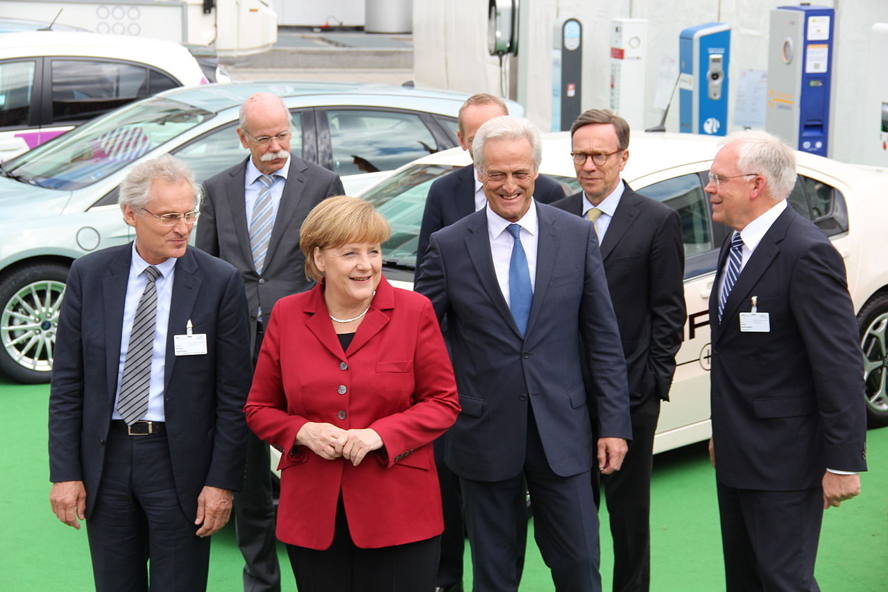 Angela Merkel and Automotive Managers.JPG