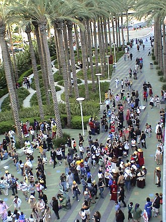 Anime convention - Outside the convention hall at Anime Expo 2004.