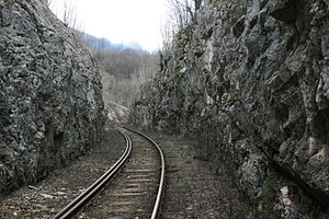 Mountain railway - View from Oraviţa - Anina railway in 2010.