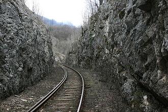 Mountain railway - View from Oraviţa - Anina railway in 2010.