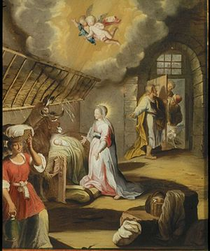 Anna Maria Barbara Abesch - The Birth of Christ, after Barocci (1744)
