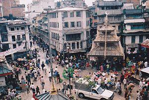 Asan, Kathmandu - Rooftop view of Asan