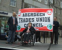 Anne Addresses May Day Rally in 2008.JPG