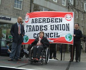 Anne Begg - Image: Anne Addresses May Day Rally in 2008