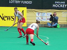 Anne Panter and Helen Richardson, England v Spain (1261666130).jpg