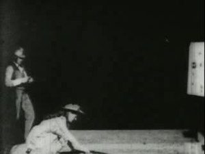 File:Annie Oakley shooting glass balls, 1894.ogv