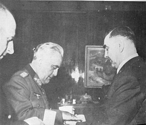 Edmund Glaise-Horstenau - Siegfried Kasche, von Horstenau and Ante Pavelić in Zagreb.