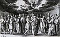 Apocalypse 24. Angel preaching the everlasting gospel. Revelation cap 14 v 6. Ammon. Phillip Medhurst Collection.jpg