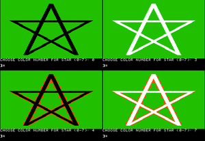 Apple II graphics - Image: Apple II high resolution graphics
