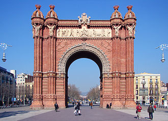 1888 Barcelona Universal Exposition - The Arc de Triomf in Barcelona