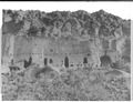 Archaeology of Southwestern U.S., Puye, Cavate Lodges before cleaning out. - NARA - 523853.tif