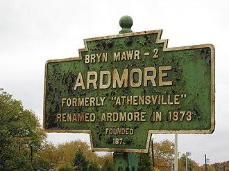 Ardmore, Pennsylvania - Image: Ardmore, PA Keystone Marker 2