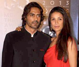 Arjun Rampal - Rampal with his wife Mehr Jesia