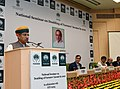 """Arjun Ram Meghwal addressing at the inauguration of the National Seminar on """"Doubling of Farmers' Income by 2022'', organised by the NABARD, on its 35th Foundation Day, in New Delhi.jpg"""