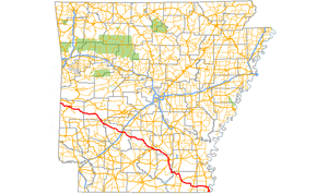 Arkansas Highway 8 - Image: Arkansas 8