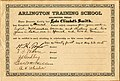 Arlington Training School diploma certificate for Lyda Elizabeth Smith for completion of Classical Course (10013166).jpg