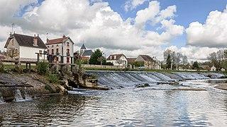 Armançon river in France
