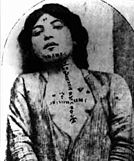 Mulher armênia exposta para venda como escrava.