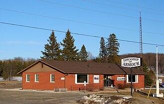 Armour, Ontario - Municipal office