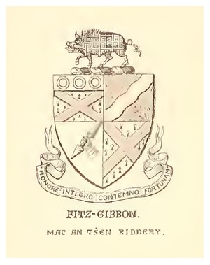 Arms of the White Knight. Unpublished Geraldine Documents, Sept of the Old Knight. Vol IV. Pedigree of the FitzGibbons.tif