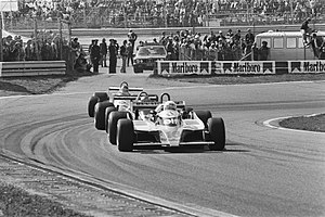 1980 Dutch Grand Prix - Arnoux leads the battle for fourth position, at about half distance