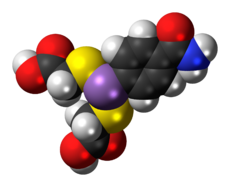 Space-filling model of arsenamide