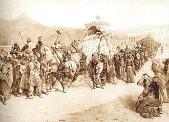 Artaxias I - Artaxias I Funeral. Painter Giuseppe Canella (1788—1847)