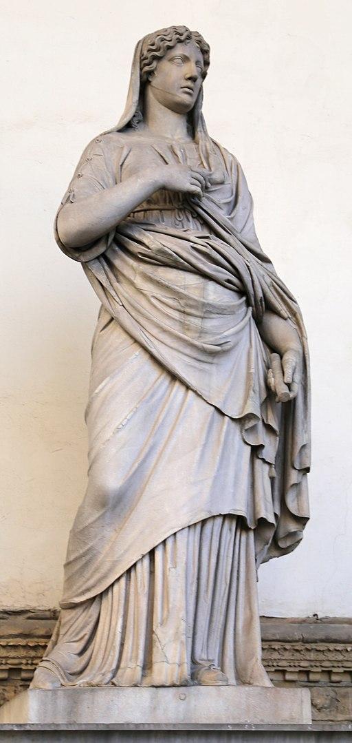 Arte romana, donna togata detta una 'sabina', 110 dc ca., con restauri moderni 01