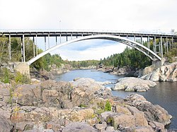 Arvida Bridge in Jonquière.