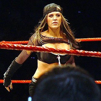 Ashley Massaro - Massaro at the ring during a WWE house show in November 2007.