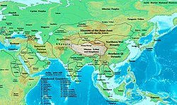 Asia in 500 AD, showing Northern Wei territories and their neighbors
