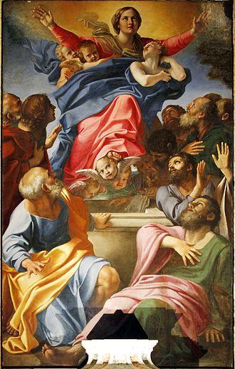 Assumption of the Virgin (Cerasi Chapel) - Image: Assumption of Mary Cerasi Chapel Santa Maria del Popolo Rome 2015