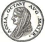 Profils de Caius Octavius et d'Atia Balba Caesonia, Promptuarii Iconum Insigniorum, 1533.